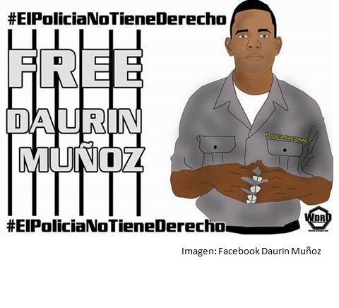 Policía Salario raso Daurin Muñoz Redes Sociales