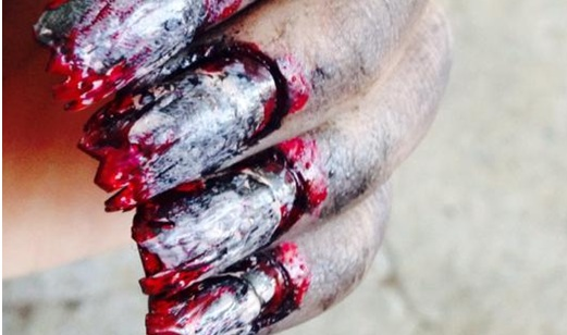 Zombie Nails, diseño de uñas, uñas curiosas, moda, belleza,