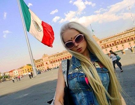 Barbie humana, Valeria Lukyanova, Instagram, Redes Sociales, programa Sabadazo, cadena Univisión, México,
