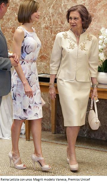 Reina Letizia, zapatos, total look, marca Magrit,