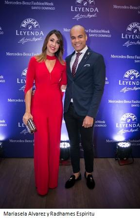 Mariasela Alvarez, Radhames Espiritu, Brugal, ron oficial, Mercedes-Benz Fashion Week Santo Domingo, cata maridaje, Jassil Villanueva,