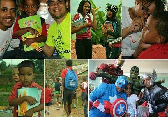 El Macotazo útiles escolares niños necesitados Anfiteatro Parque de la Núñez Fundación La Gente cuadernos