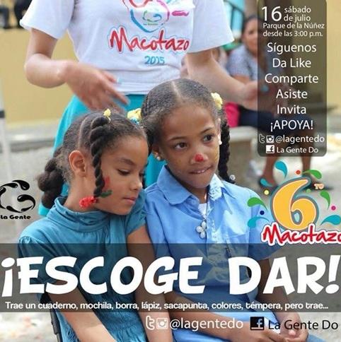 El Macotazo, útiles escolares, niños necesitados, Anfiteatro, Parque de la Núñez, Fundación La Gente,